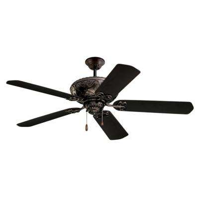 Devonshire 52 in. LED Indoor / Outdoor Oil Rubbed Bronze Ceiling Fan