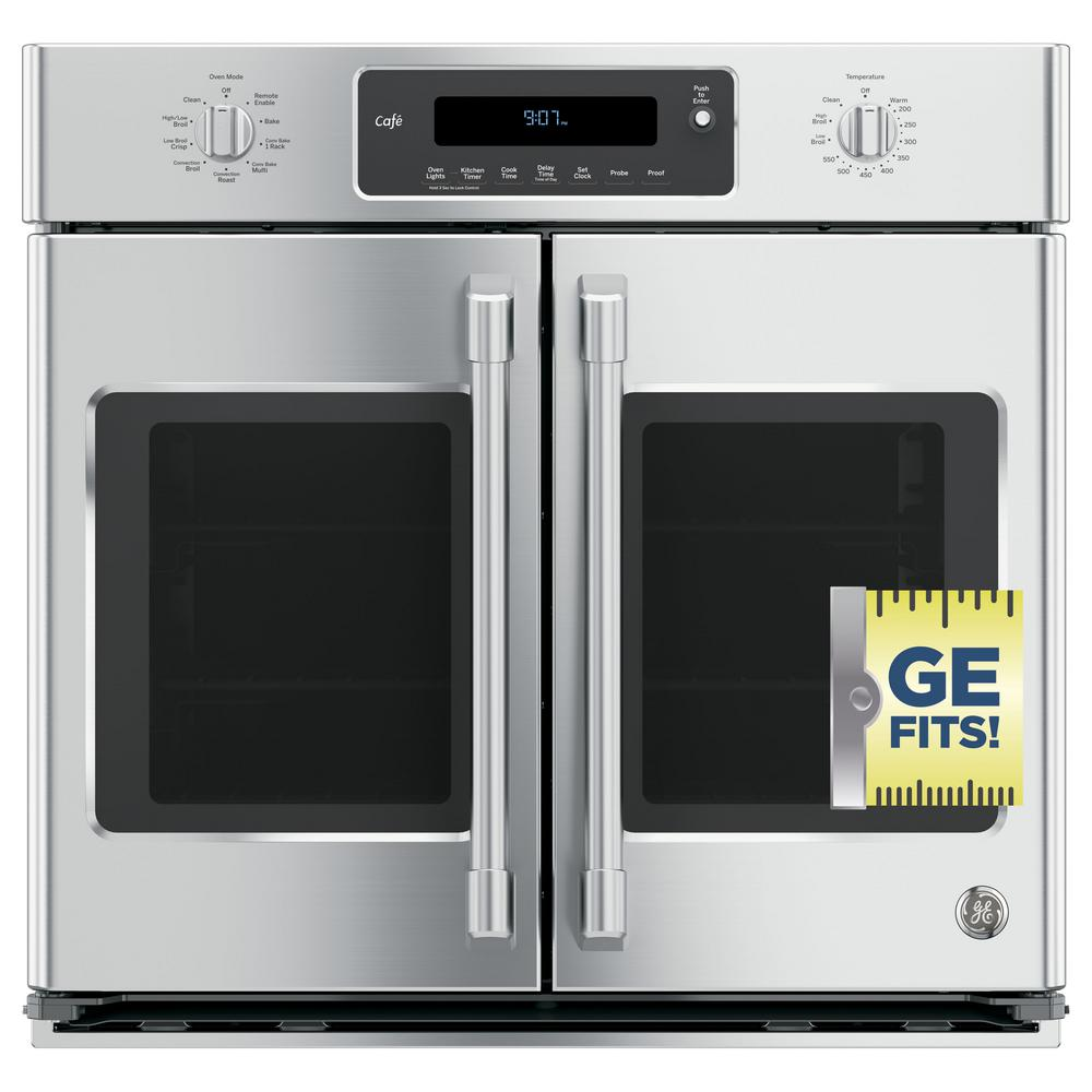 Cafe 30 In Single Electric Smart French Door Wall Oven