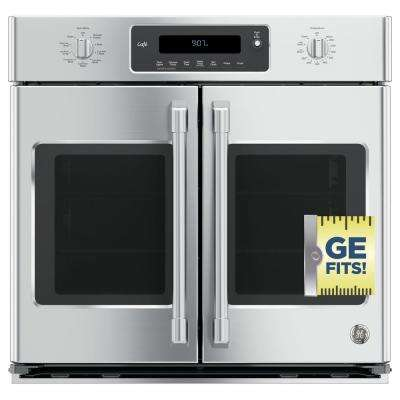 30 in. Single Electric Smart French-Door Wall Oven Self-Cleaning with Convection and Wi-Fi in Stainless Steel