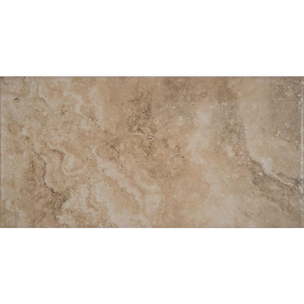 MSI Palacio Crema 12 in. x 24 in. Glazed Porcelain Floor and Wall Tile (16 sq. ft. / case)
