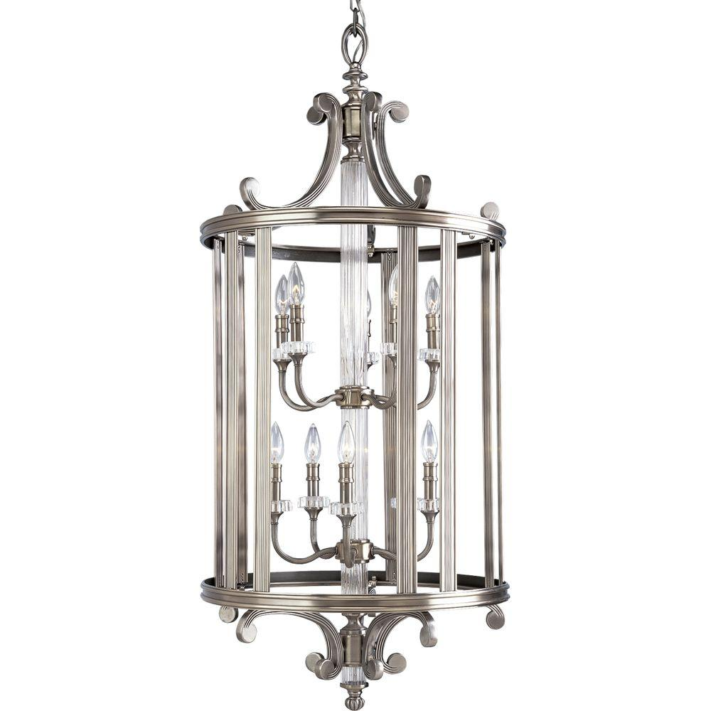 Foyer Chandelier Home Depot : Progress lighting roxbury collection light classic