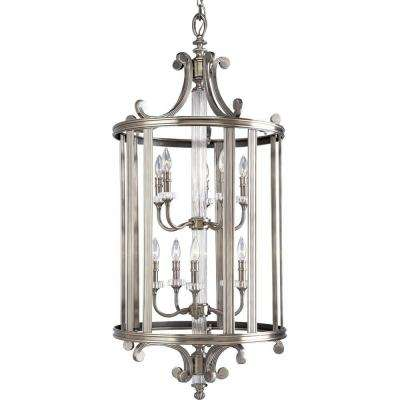 Roxbury Collection 10-Light Classic Silver Foyer Pendant