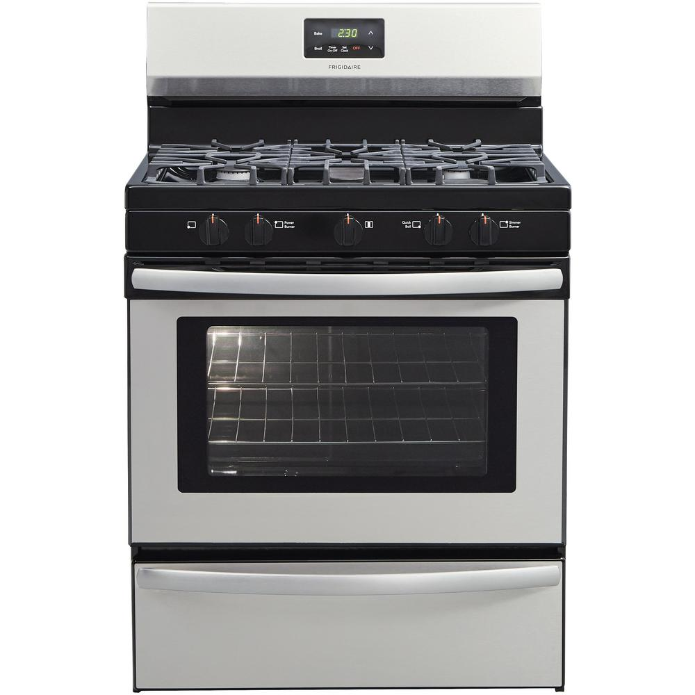 Frigidaire 30 In 4 2 Cu Ft Gas Range With 5 Burner Cooktop