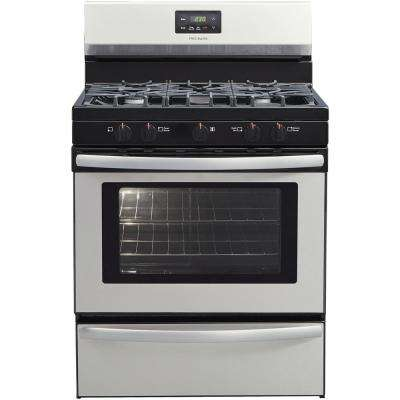 30 In 4 2 Cu Ft Gas Range With 5 Burner Cooktop Stainless