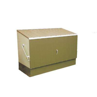 6 ft. x 3 ft. Green Heavy Duty Steel Bicycle Storage Locker