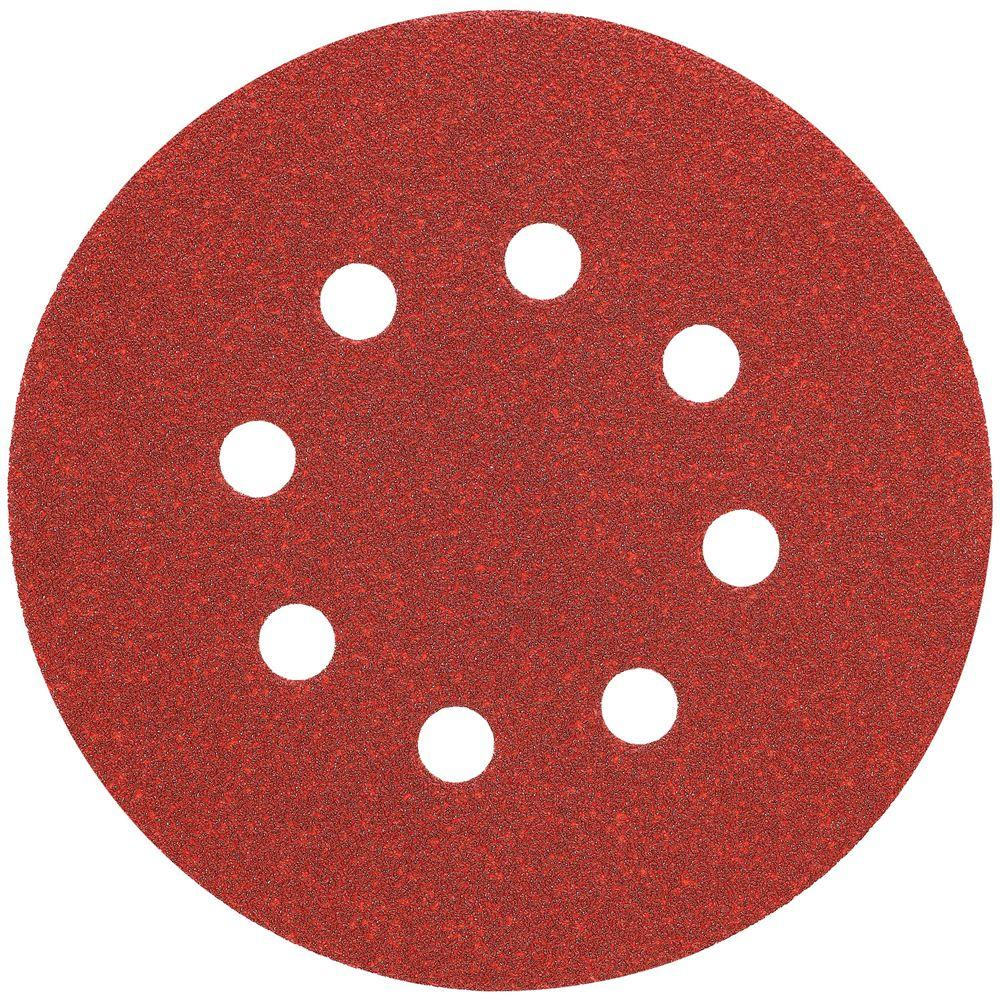 5 in. 8 Hole 100-Grit H and L Random Orbit Sandpaper