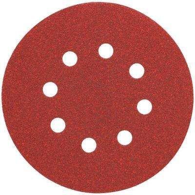 5 in. 8 Hole 100-Grit H and L Random Orbit Sandpaper (25-Pack)