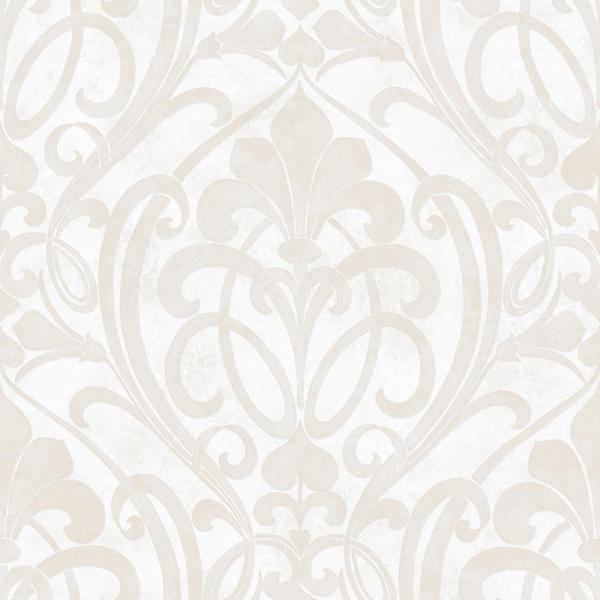 Chesapeake Zoe Snow Coco Damask Wallpaper VIR98261