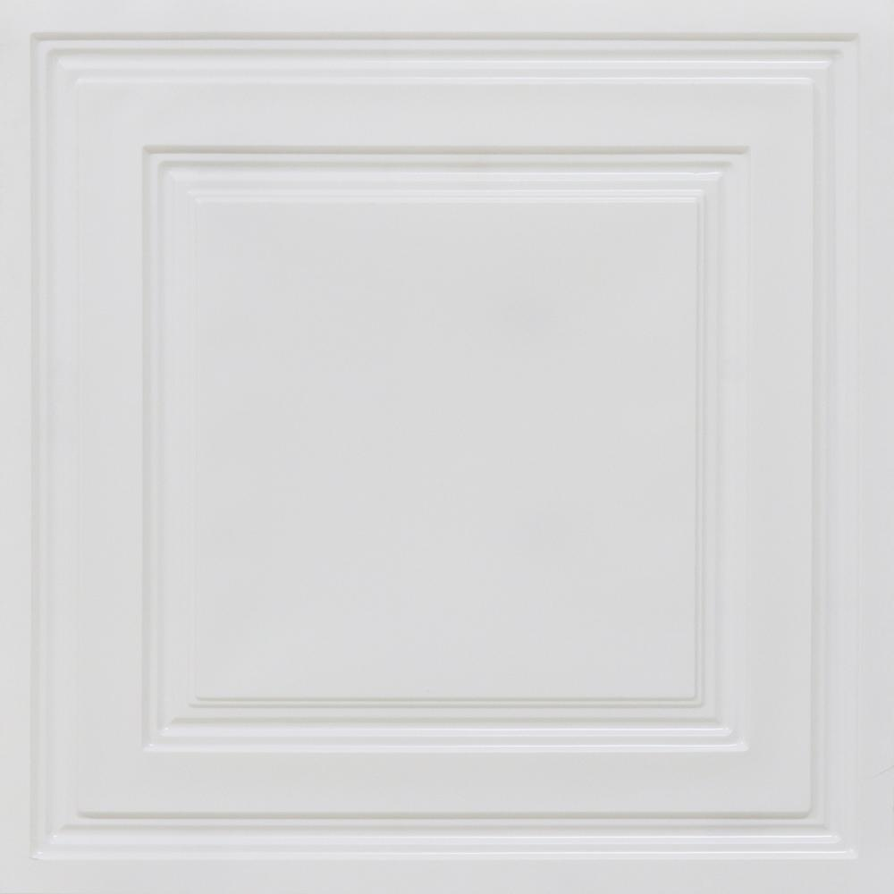 From Plain To Beautiful In Hours Economy 2 ft. x 2 ft. PVC Lay-in Ceiling Tile Pack (40 sq. ft. / box)