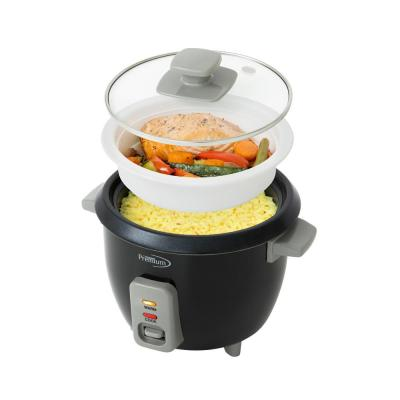6-Cup Black Rice Cooker and Rice Steamer with Non-Stick Cooking Pot
