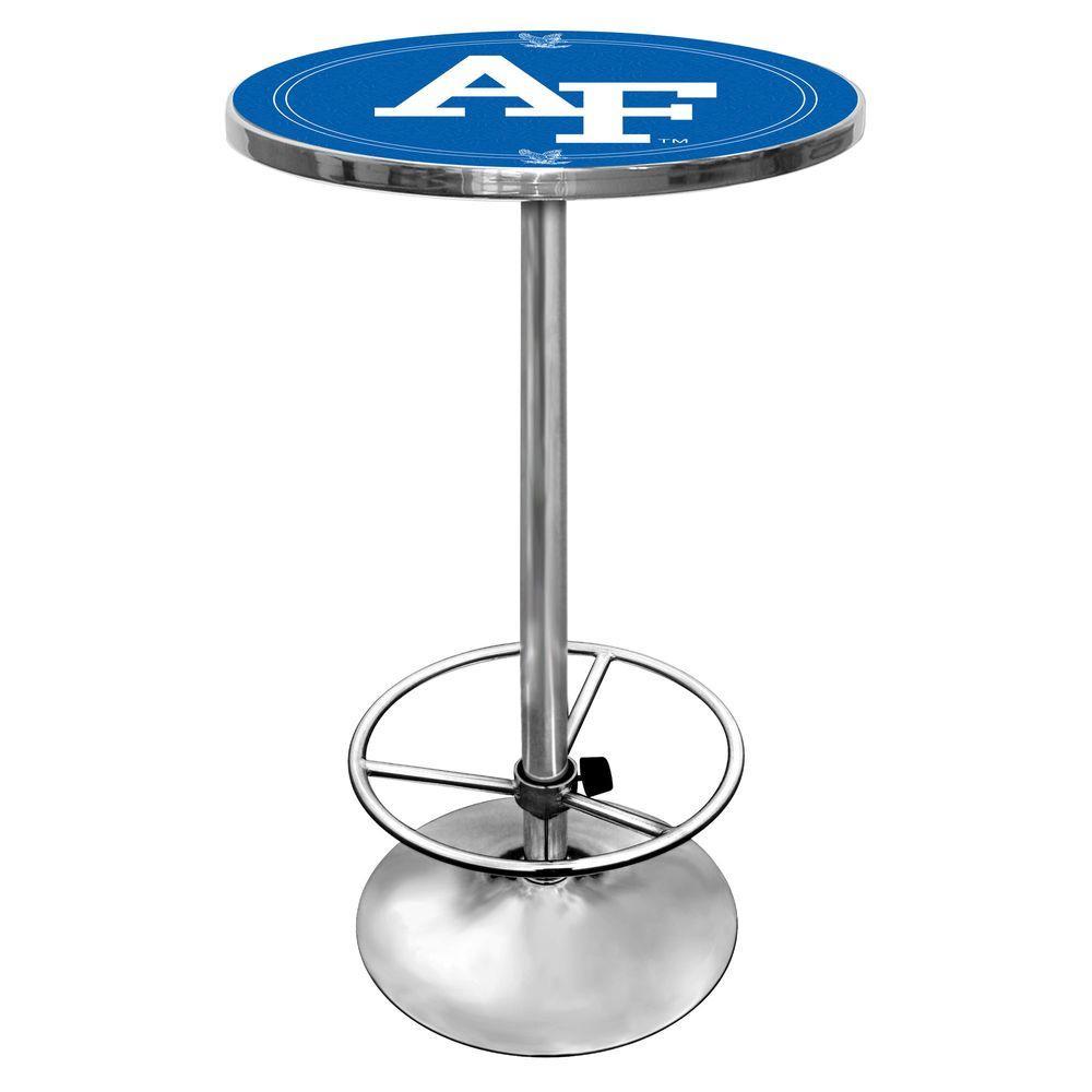 Air Force Falcons Chrome Pub/Bar Table