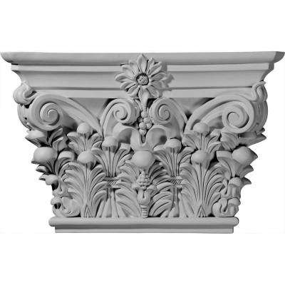 24-1/8 in. x 6-3/4 in. x 15-7/8 in. Primed Polyurethane Acanthus Leaf Capital