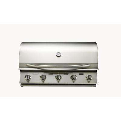 5-Burner Built-In Stainless Steel Natural Gas Grill