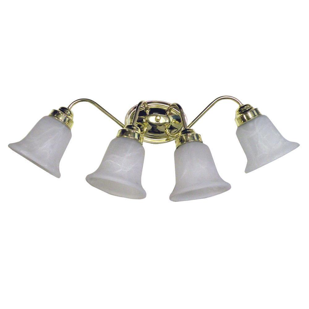 4-Light Polished Brass Sconce