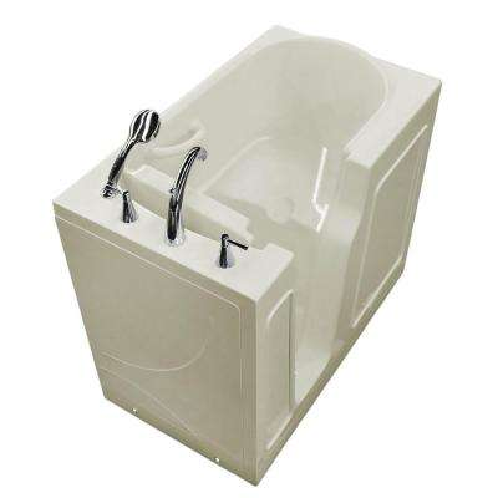 HD Series 26 in. x 46 in. Left Drain Quick Fill Walk-In Soaking Bathtub in Biscuit