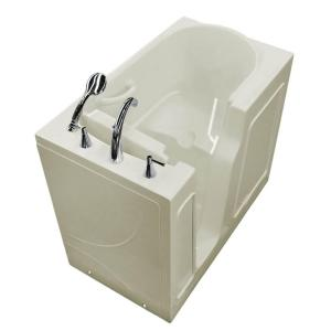 Universal Tubs 3.9 ft. Left Drain Walk-In Bathtub in Biscuit by Universal Tubs