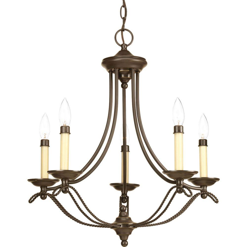 Progress Lighting Avalon Collection 5-Light Antique Bronze Chandelier