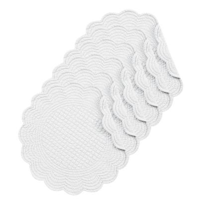 White Round Placemat (Set of 6)