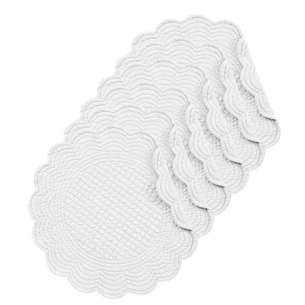 C & F Home White Round Placemat (Set of 6)