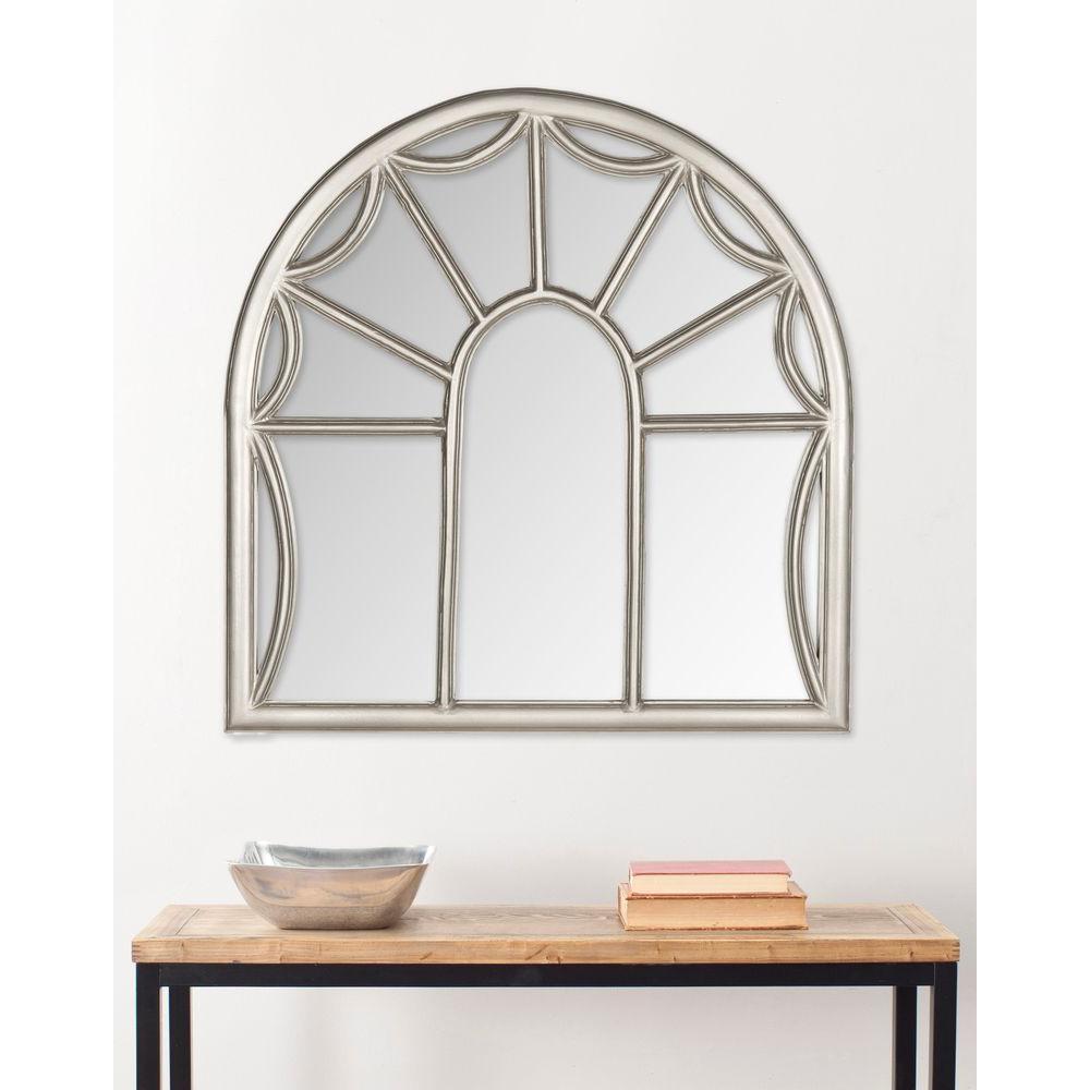 Palladian 33 in. x 32 in. Wood Framed Mirror