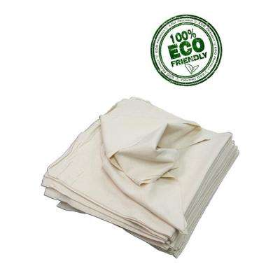 Natural 28 in. x 29 in. Unbleached Beige Flour Sack Towel (2-Pack)