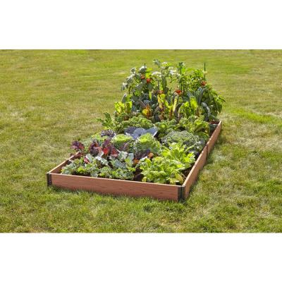 4 ft. x 8 ft. Brown Wood and Plastic Composite Raised Garden Bed