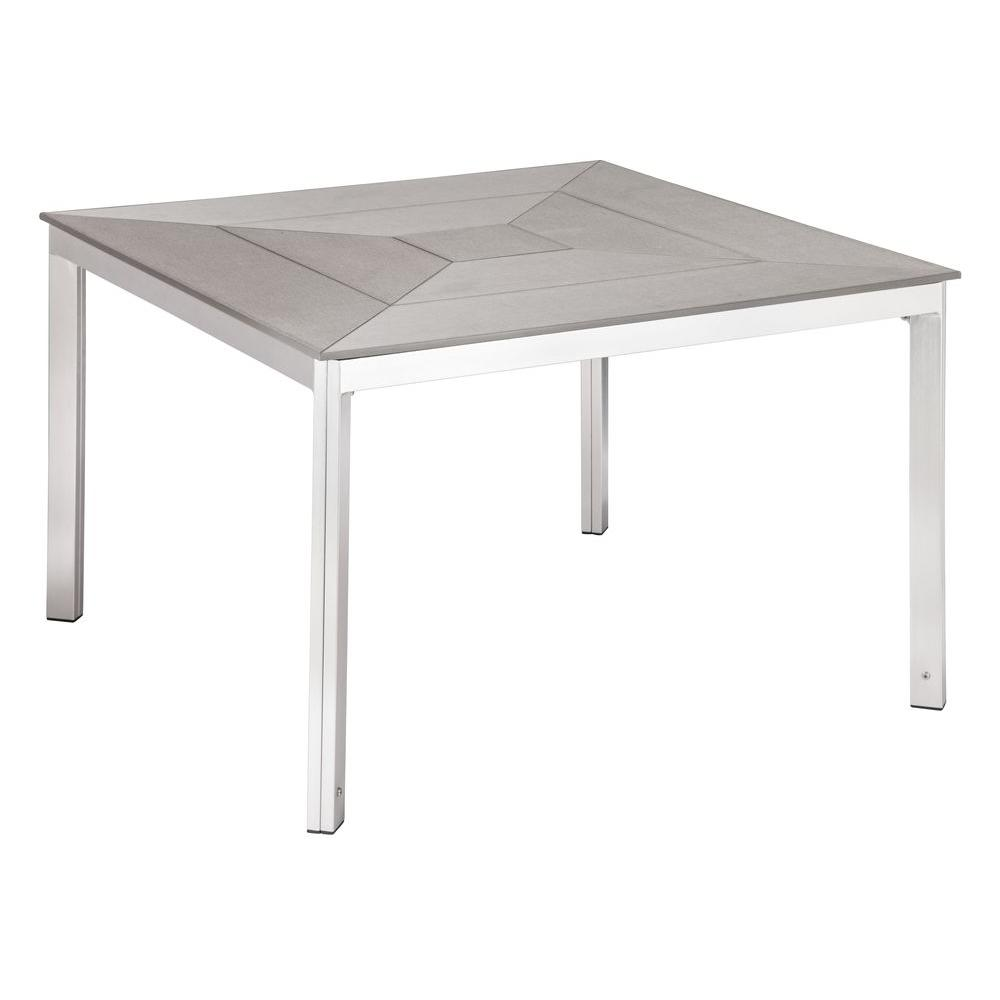 ZUO Gray Center Dining Patio Table