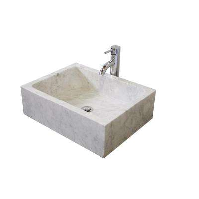 Cantrio Vessel Sink in Blanca Carera