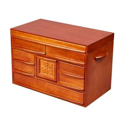 Empress Walnut Finish Wooden Jewelry Box