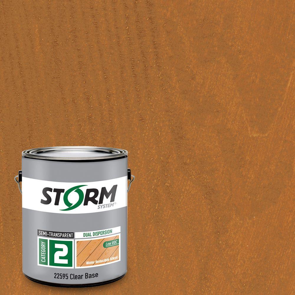 Category 2 1 gal. Cedar Plank Exterior Semi-Transparent Dual Dispersion Wood