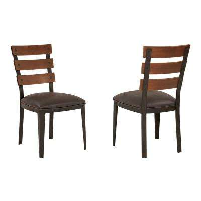 Saugus Bandero Expresso Fabric Dining Chair (Set of 2)