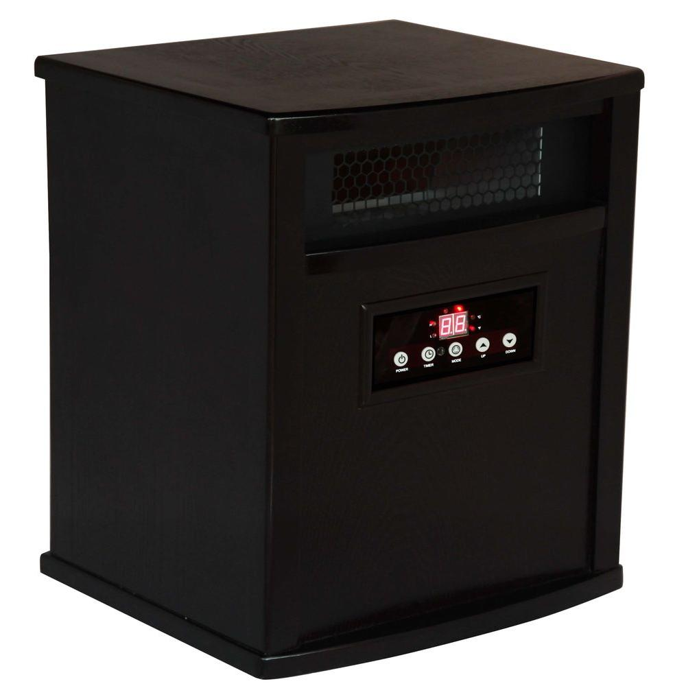 American Comfort Titanium 1500-Watt Infrared Electric Portable Heater with Built-in Air Purifier - Espresso