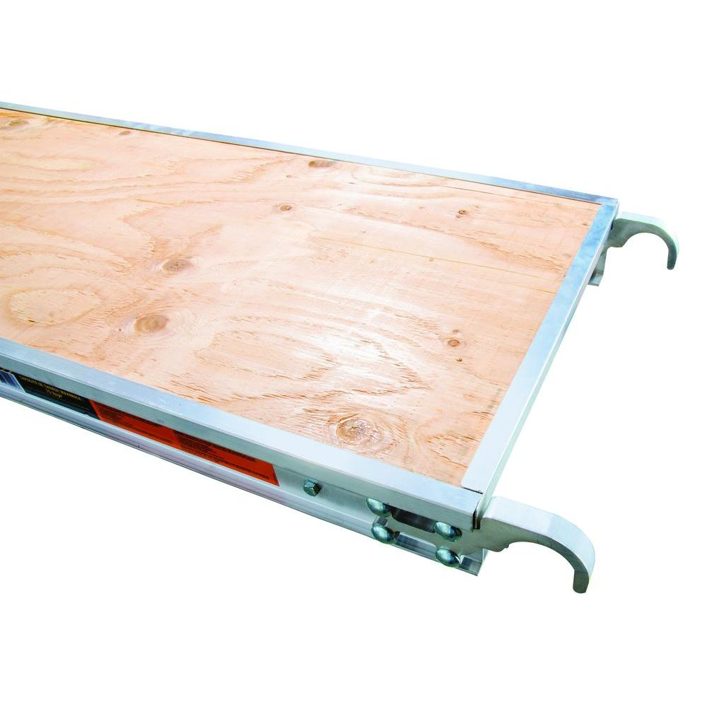 10 ft. x 1.7 ft. Aluminum Platform with Plywood Deck and