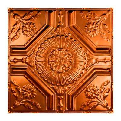 Rochester 2 ft. x 2 ft. Nail-up Tin Ceiling Tile in Copper