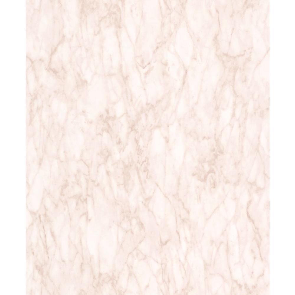 Seashell Faux Marble Vinyl Wallpaper