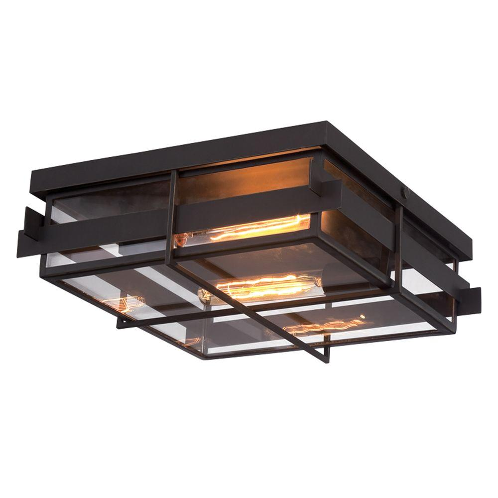 Eurofase Muller Collection 2 Light Bronze Flush Mount