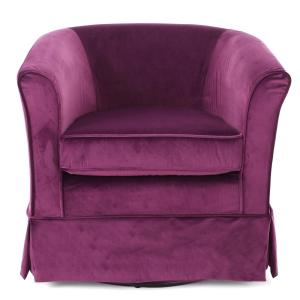 Astounding Noble House Cecilia Fuchsia New Velvet Swivel Chair 8151 Dailytribune Chair Design For Home Dailytribuneorg