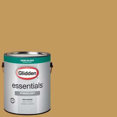 1 gal. #HDGY34 Monarch Gold Semi-Gloss Interior Paint