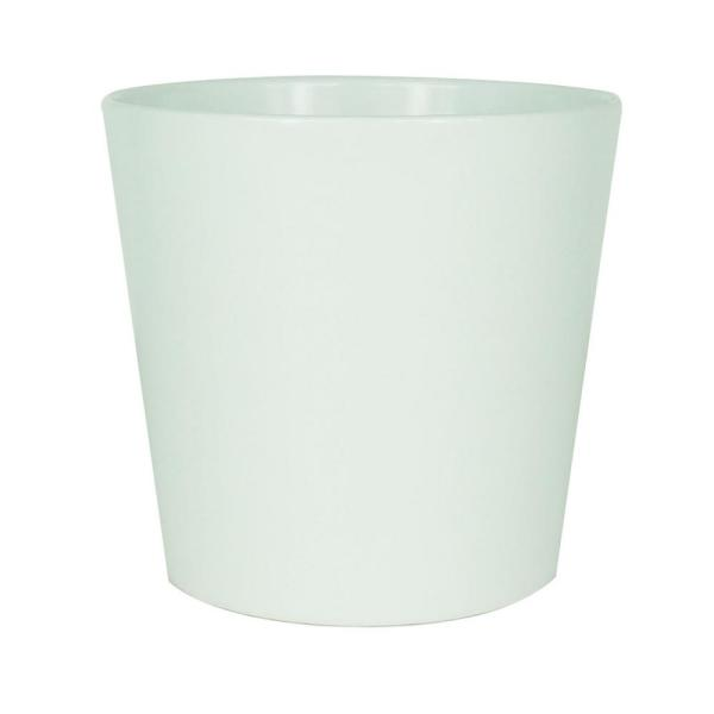 3 in. White Ceramic Mini Modern Flare Succulent Planter