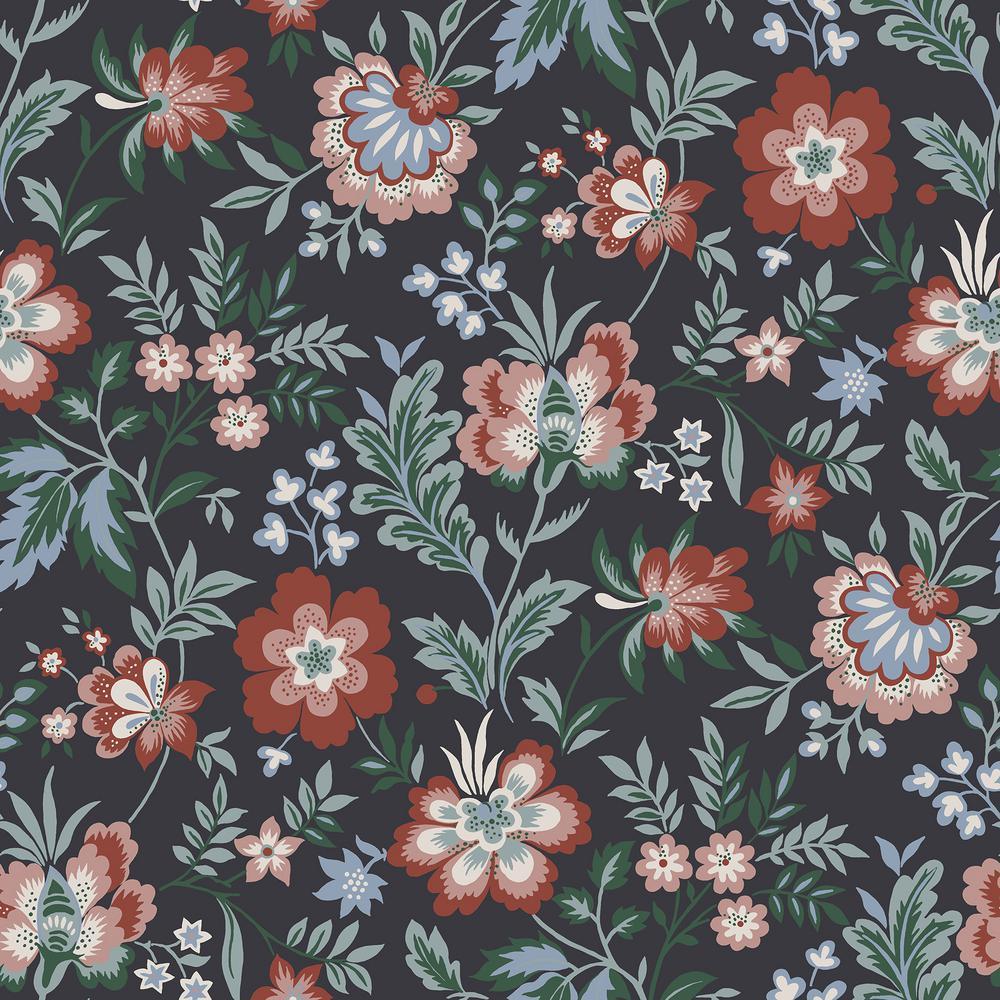 Athena Multicolor Floral Wallpaper
