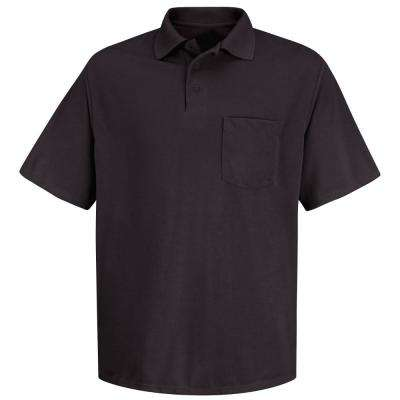 Men's Size 2XL Black Polyester Solid Shirt