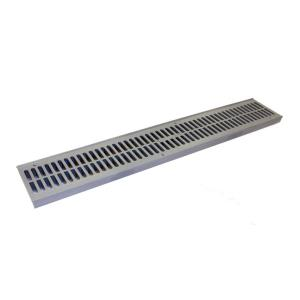 Nds 2 Ft Plastic Spee D Channel Drain Grate Gray 241 1