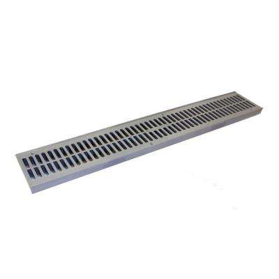 2 ft. Plastic Spee-D Channel Drain Grate, Gray