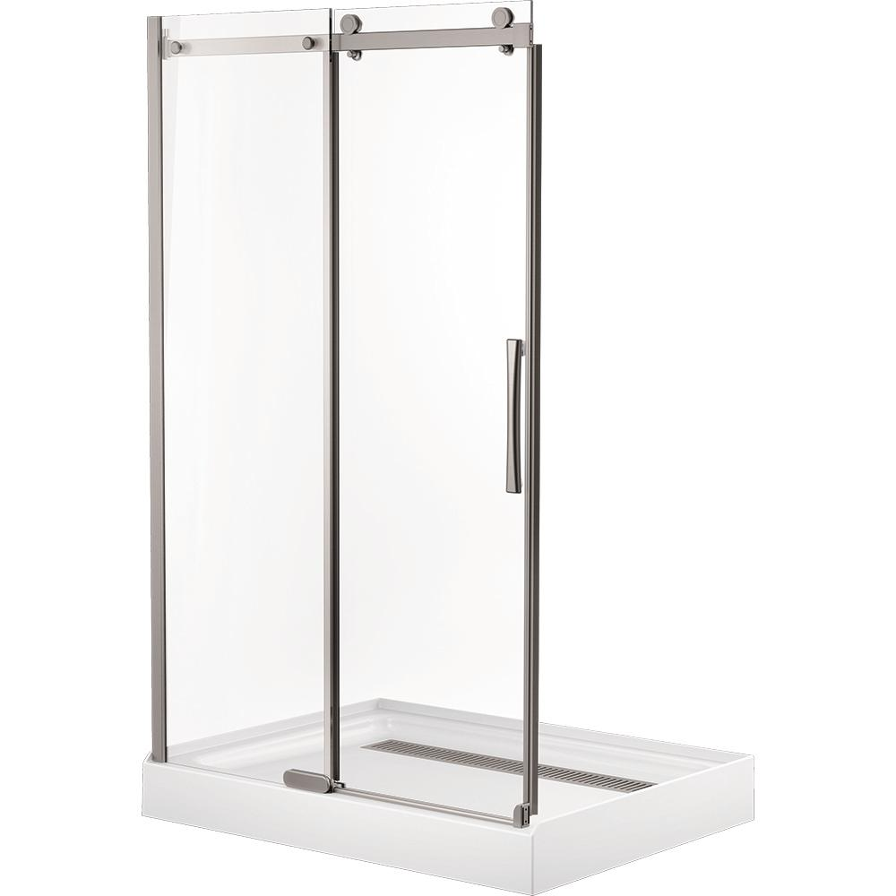 Delta 48 In. X 72 In. Frameless Sliding Shower Door In