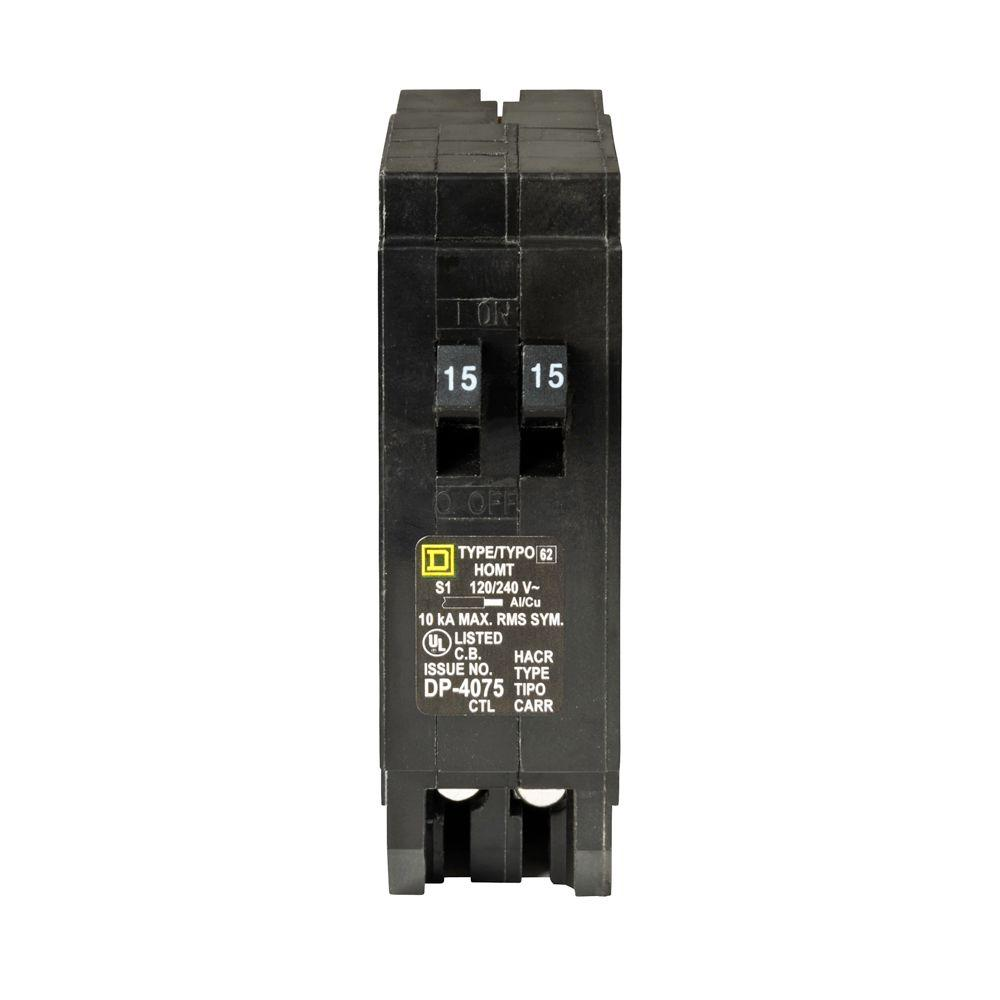 120 240 Circuit Breakers Power Distribution The Home Depot Breaker Wiring Diagram Moreover 50 Gfci Homeline 2 15 Amp Single Pole Tandem