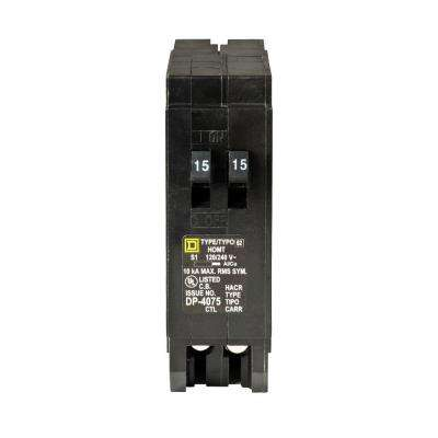 Homeline 2-15 Amp Single-Pole Tandem Circuit Breaker