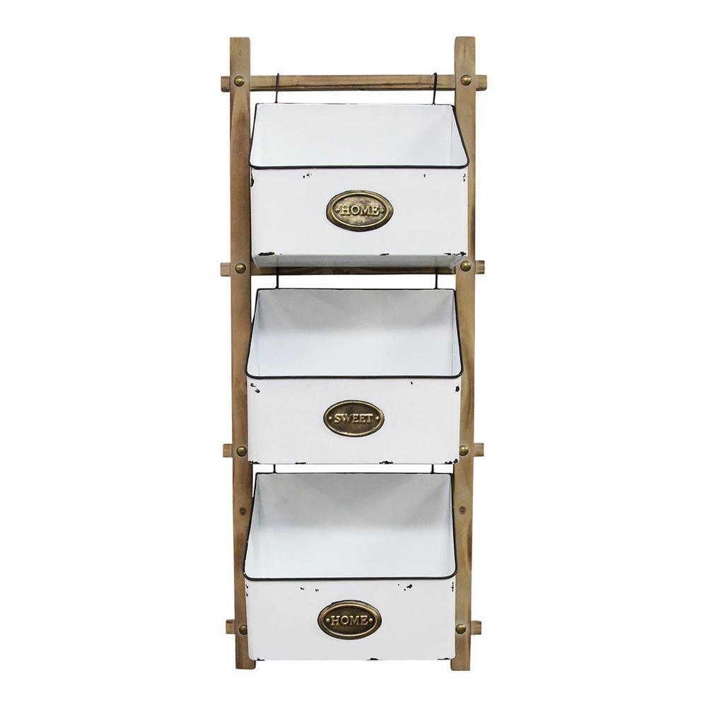 3-Tiered wooden Farmhouse Basket