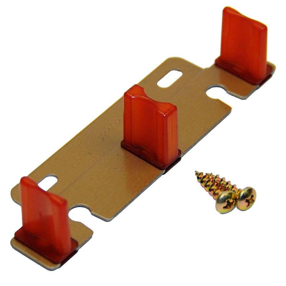 Johnson Hardware Adjustable Bypass Door Guide for 1-3/8 in. or 3/4 in. Thick Doors