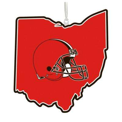 Cleveland Browns 5 in. NFL Team State Christmas Ornament
