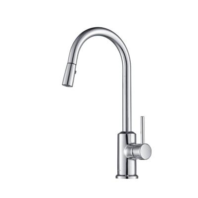 Brighton Gooseneck 1.8 GPM CalGreen Single-Handle Pull-out Sprayer Kitchen Faucet in Chrome